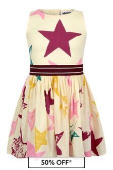 Girls Ivory Organic Cotton Star Dress