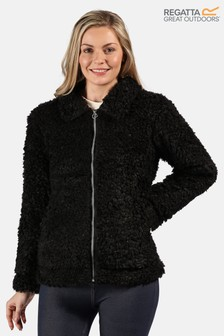 Regatta Black Akasha Fluffy Teddy Fleece