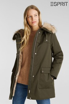 Esprit Green Outdoor Jacket Parka
