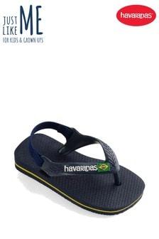 Havaianas® Navy Baby Brasil Flip Flop