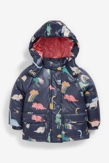 Dino & Unicorn Print Coat (3mths-7yrs)