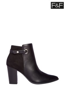 F&F Black Point Strap And Ring Boots
