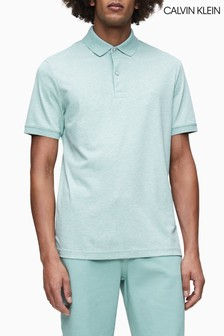 Calvin Klein Green Soft Interlock Slim Fit Polo