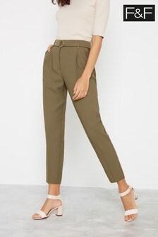 F&F Khaki Fast Trim Trousers