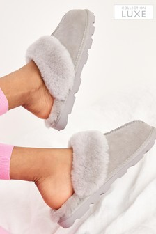 Collection Luxe Shearling Mule Slippers