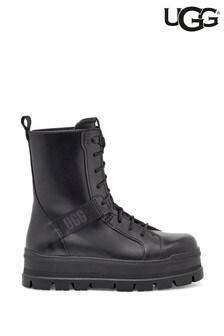 UGG Black Sheena Lace-Up Boots