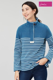 Joules Blue Saunton Salt Casual Half Zip Sweatshirt