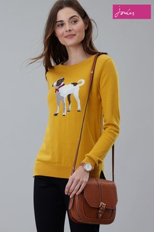 Joules Yellow Miranda Crew Neck Jumper