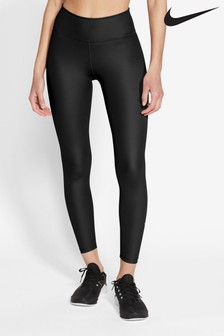 Nike One 7/8 Faux Leather Leggings