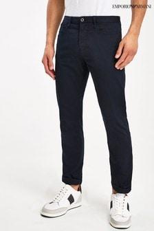 Granatowe spodnie chino Emporio Armani