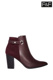 F&F Burgundy Boots