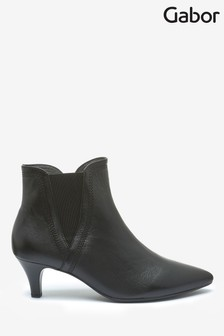 Gabor Black Alure Womens Modern Leather Ankle Boots
