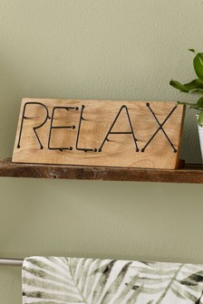 Wire Relax Word Plaque