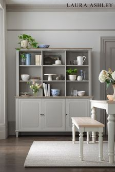 Hanover Pale French Grey Dresser Top For 3 Door Sideboard by Laura Ashley