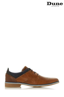 Dune Mens Tan Denim Trim Top Casual Shoe