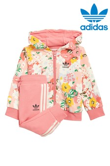 adidas Originals Infant Floral Zip Through Hoodie And Joggers Set