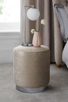 Elinore Stool With Silver Base