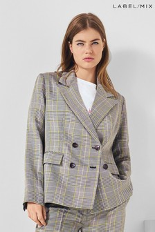 Next/Mix Double Breasted Check Jacket