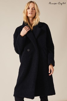 Phase Eight Blue Tabitha Teddy Coat