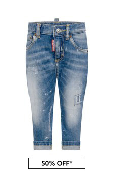 Dsquared2 Kids Baby Blue Cotton Denim Jeans