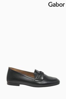 Gabor Black Villa Leather Casual Shoes
