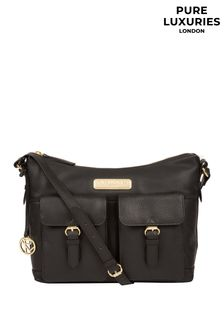 Pure Luxuries London Jenna Leather Shoulder Bag