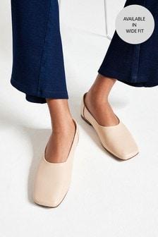 Signature Angled Toe Ballerina Shoes