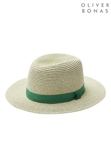 Oliver Bonas Green Green Twist Fedora Hat