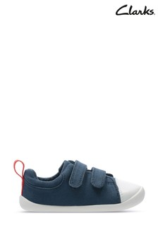 Clarks Navy Canvas Roamer Craft T Canvas Shoes