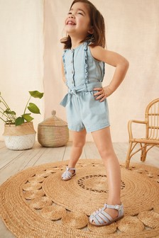 Frill Tie Belt Playsuit (3mths-10yrs)