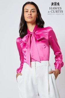 חולצה חלקה של Hawes & Curtis דגם Lulu בוורוד