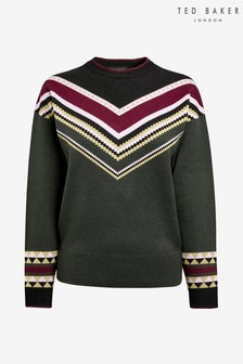 Ted Baker Green Fairisle Pattern Jumper