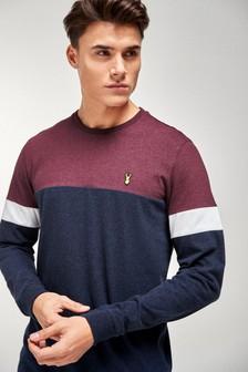 Long Sleeve Block Regular Fit T-Shirt