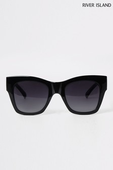 River Island Black Nikita Chain Arm Glam Sunglasses