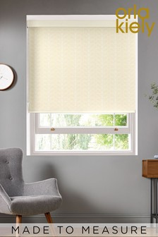 Linear Stem Cream Made To Measure Roller Blind by Orla Kiely