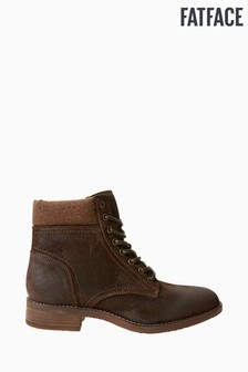Fatface Brown Lanton Lace Up Boots