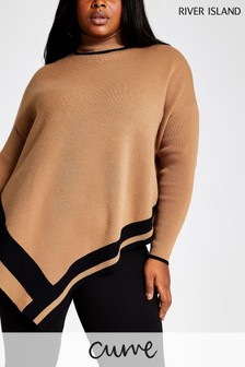 River Island Curve Toffee Patsy Cape Jumper