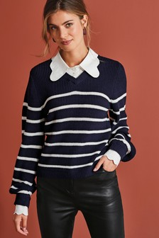 Scallop Collar Layer Jumper