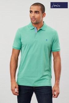Joules Green Jersey Polo Plain Poloshirt