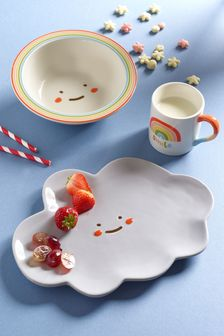 3 Piece Children's Rainbow Dinner Set