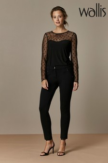 Wallis Petite Black Ponte Treggings