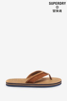 Superdry Premium Surf Leather Flip Flops