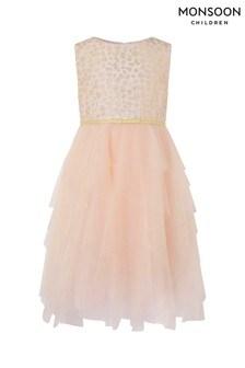 Monsoon Pink Katriona Leopard Print Dress