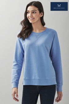 Crew Clothing Company Blue Pigment Dyed Sweatshirt