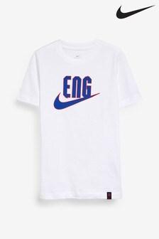 Nike White England Swoosh T-Shirt