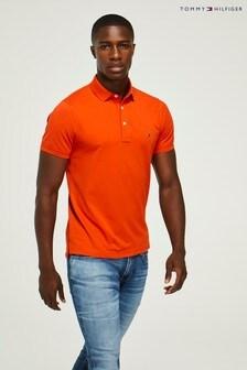 Tommy Hilfiger Orange Slim Fit Polo