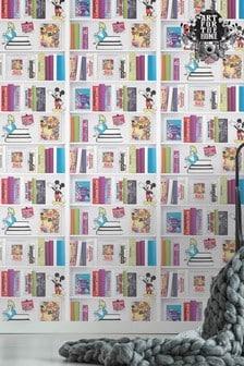Art For The Home Multi Disney™ Bookshelf Wallpaper