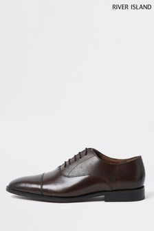 River Island Brown Smart Toecap Oxford Shoes