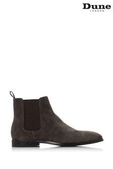 Dune Grey Suede Mandel Chelsea Boots