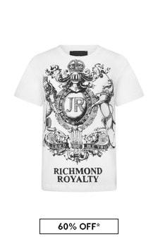 John Richmond Boys White Cotton T-Shirt